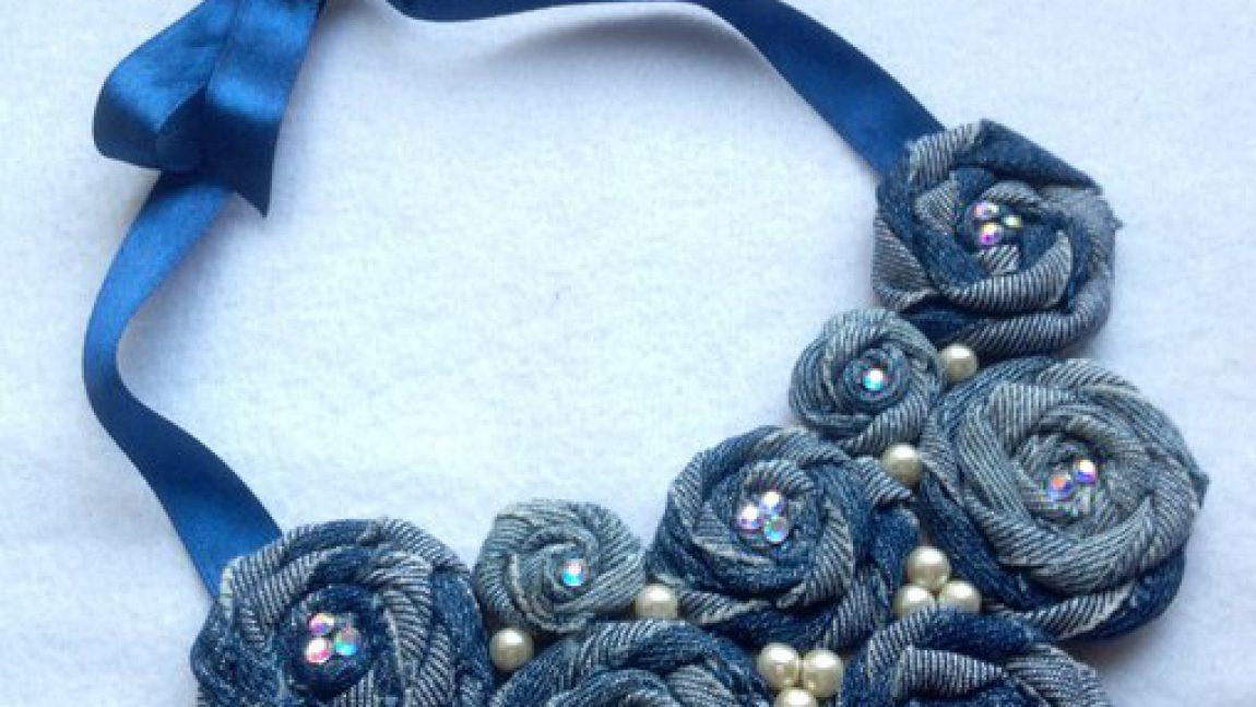 Джинсовое ожерелье — просто и эффектно!