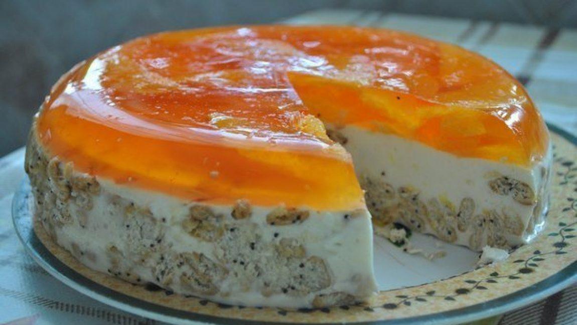 Торт из печенья и желе без выпечки рецепт с фото из печенья