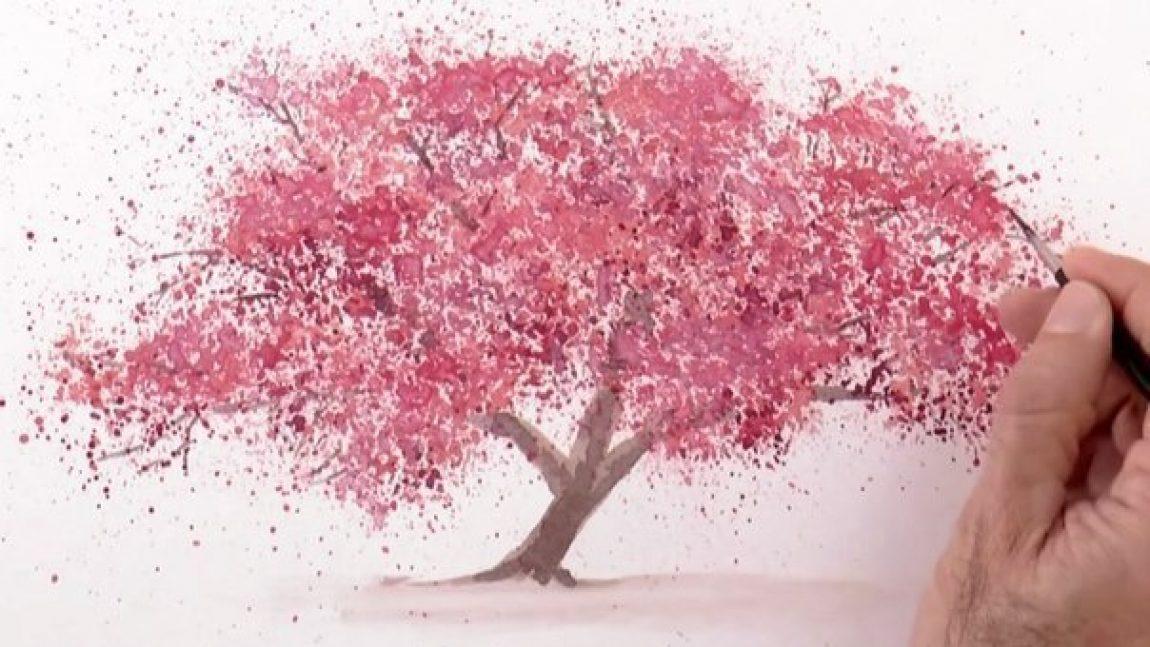 Дерево из брызг