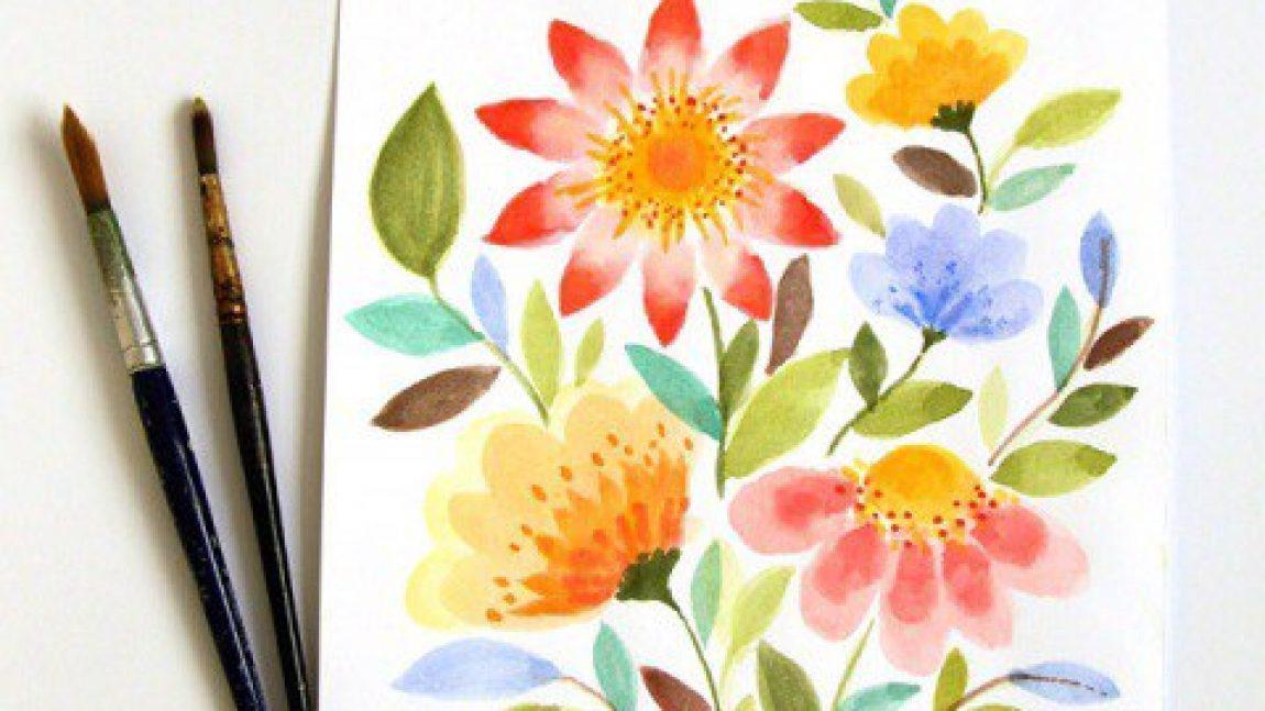 Рисуем акварельные цветы