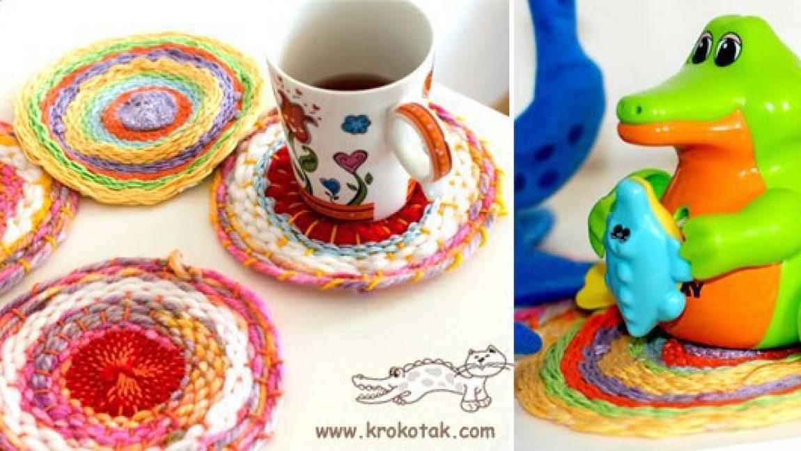 Плетёная подставка для чашки