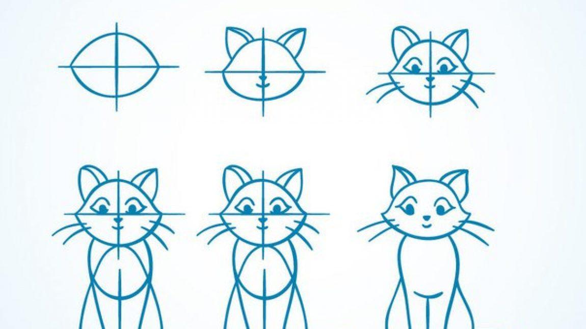 Пошаговые рисунки для малышей