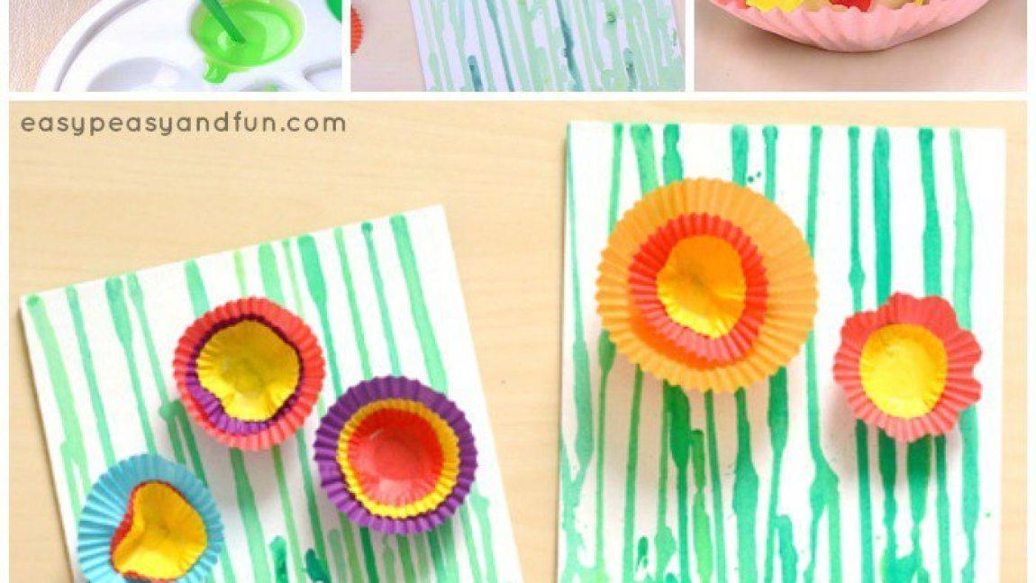 Цветочки из формочек для кексов