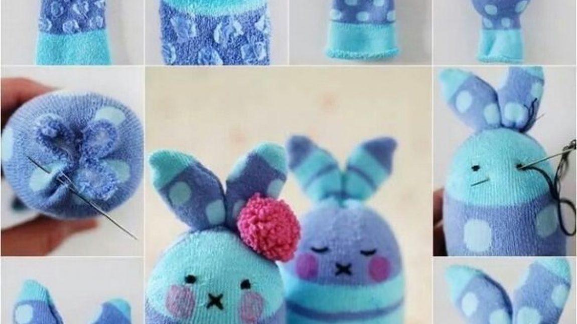 Простые игрушки из носков