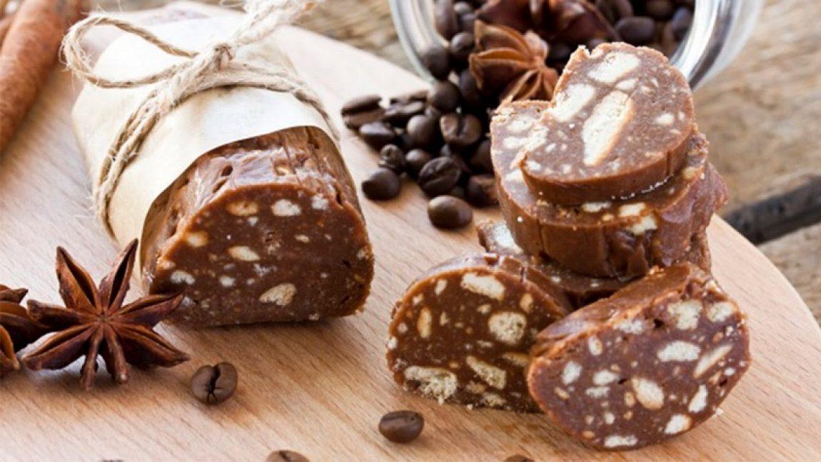 Шоколадная колбаса со сгущенкой