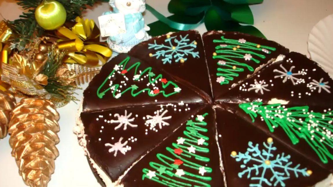 Торт «Баунти» на Новый Год