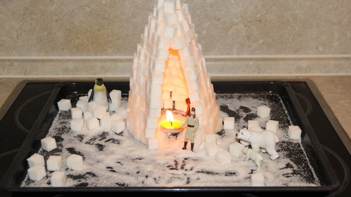 Сахарные домики для эскимосов