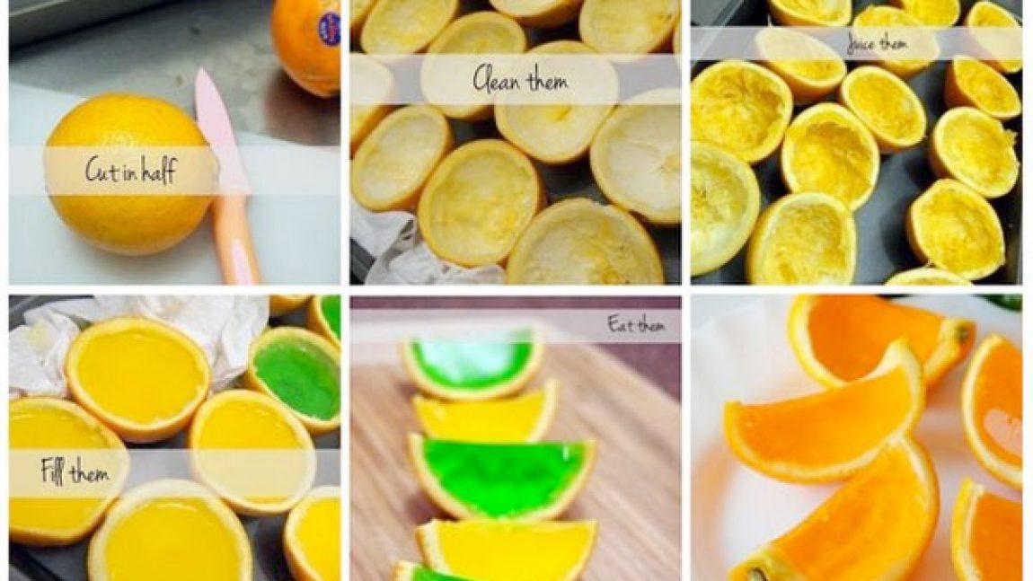 Желе в апельсине