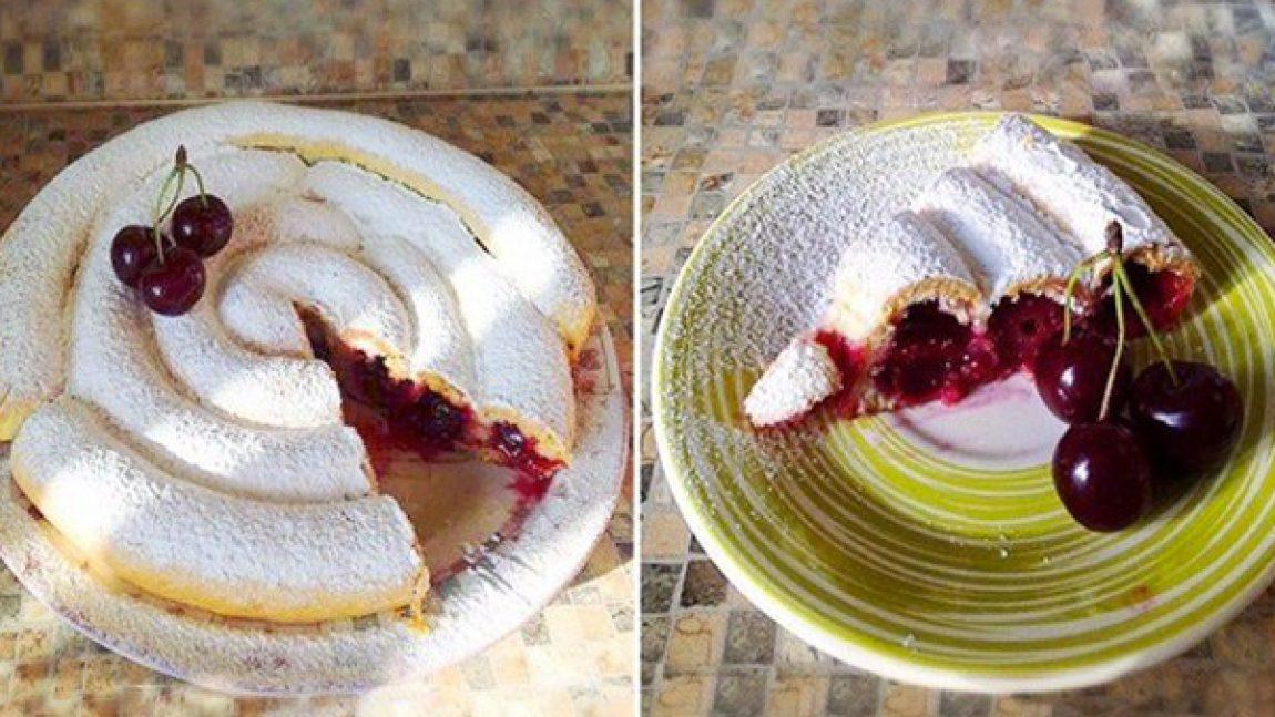 Трубчатый вишнёвый пирог