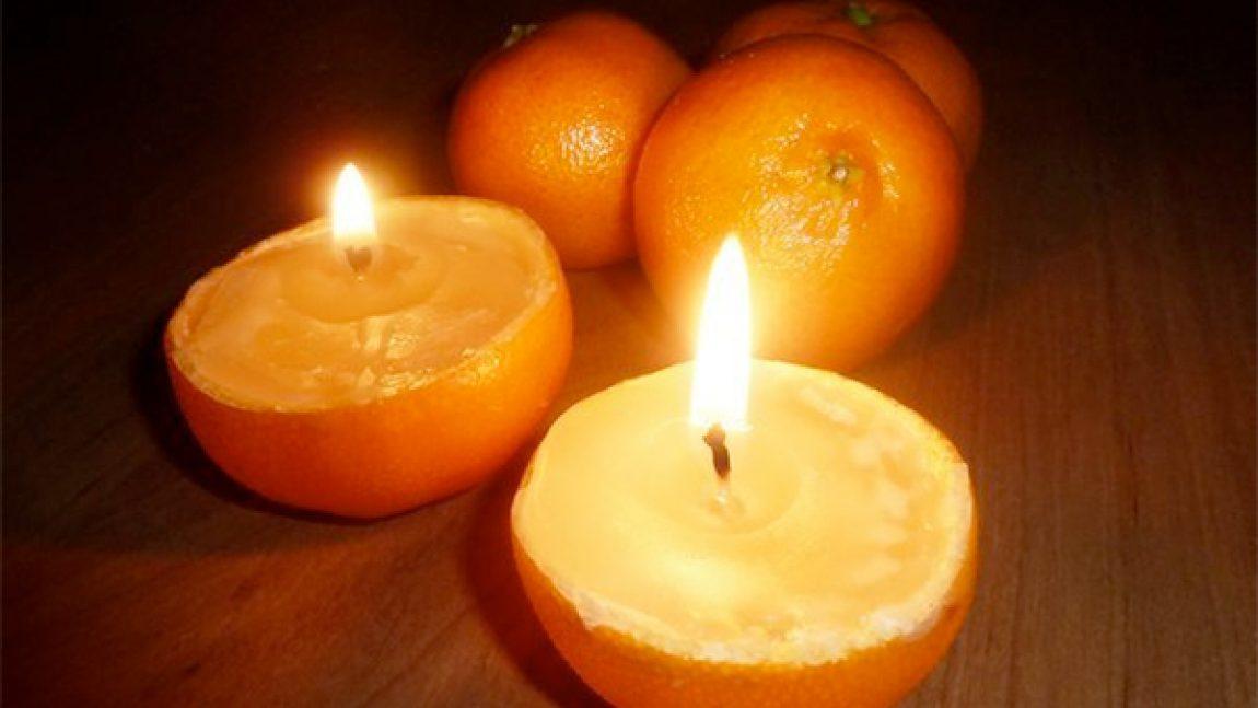 Мастерим апельсиновые свечи