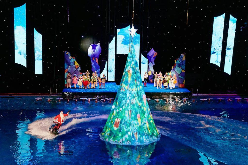 Фото: новогодняя сказка на воде