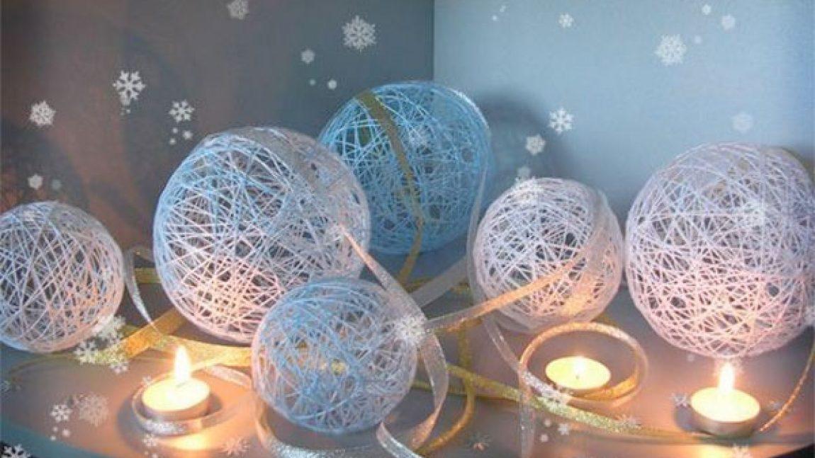 Новогодний мастер-класс: светящиеся шары
