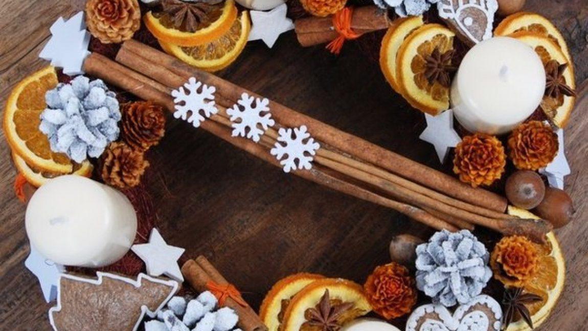 Цитрусовые новогодние венки