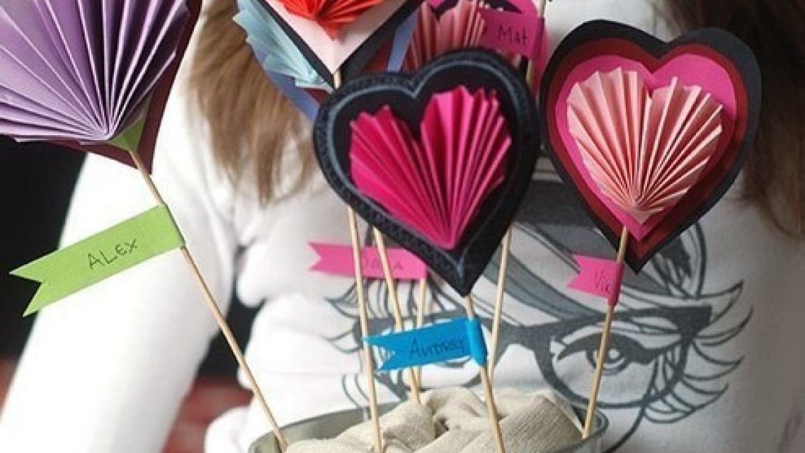 Гофрированные сердечки