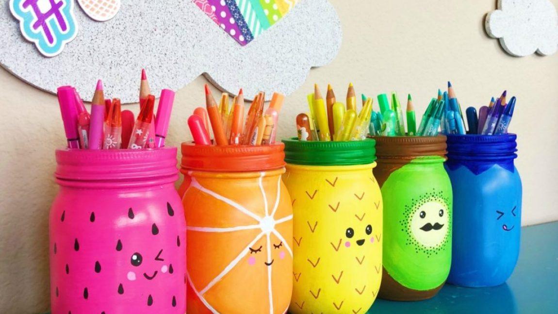 Весёлые баночки-карандашницы