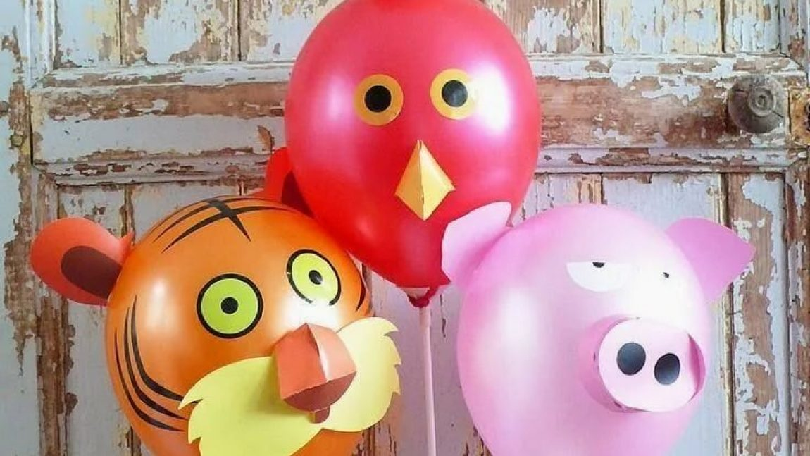 Зверята и воздушных шариков