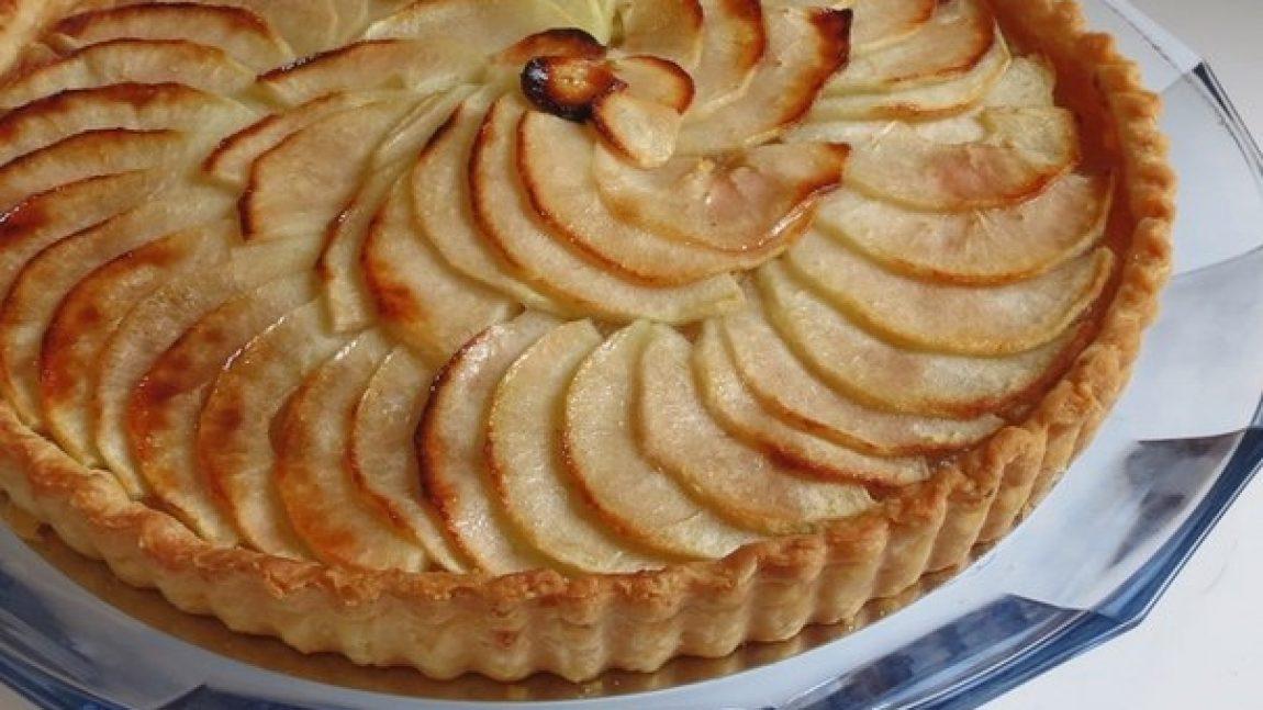 Домашний яблочный пирог с овсянкой на йогурте