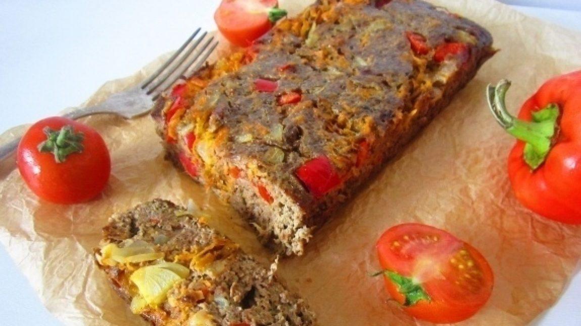 Суфле из куриной печени с овощами