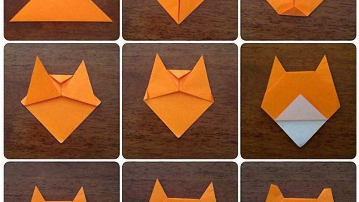 Оригами – лисёнок
