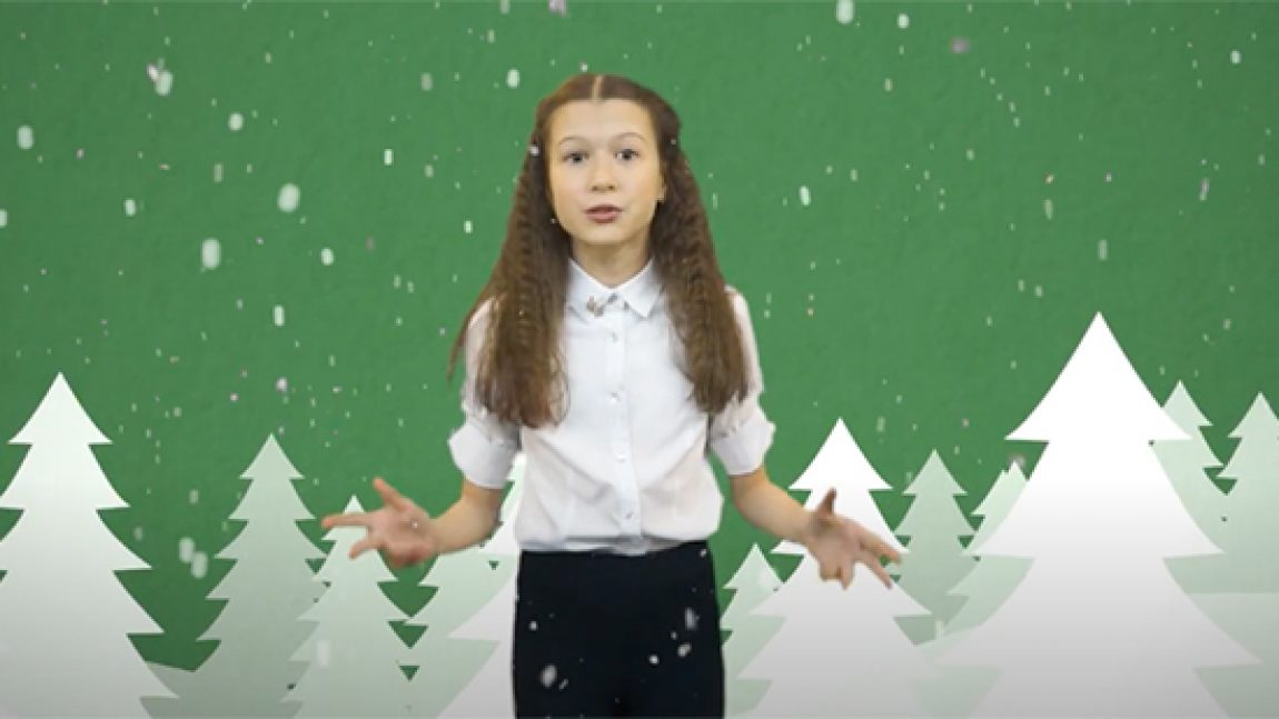 """Лиза Селезнёва читает Татьяну Шатских """"Ах ты, зимушка-зима"""""""